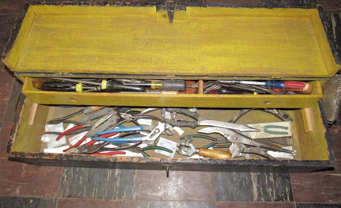 Channel Locks Snips Pliers Snips Antique Tool Box