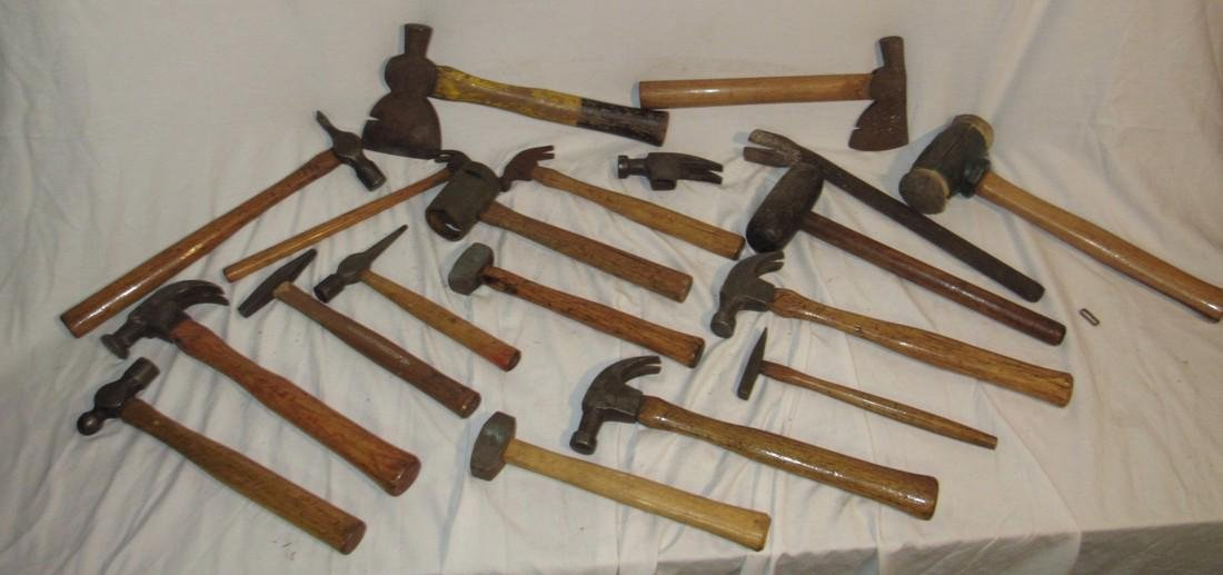 Antique Vintage Axes Hammers & Mallets