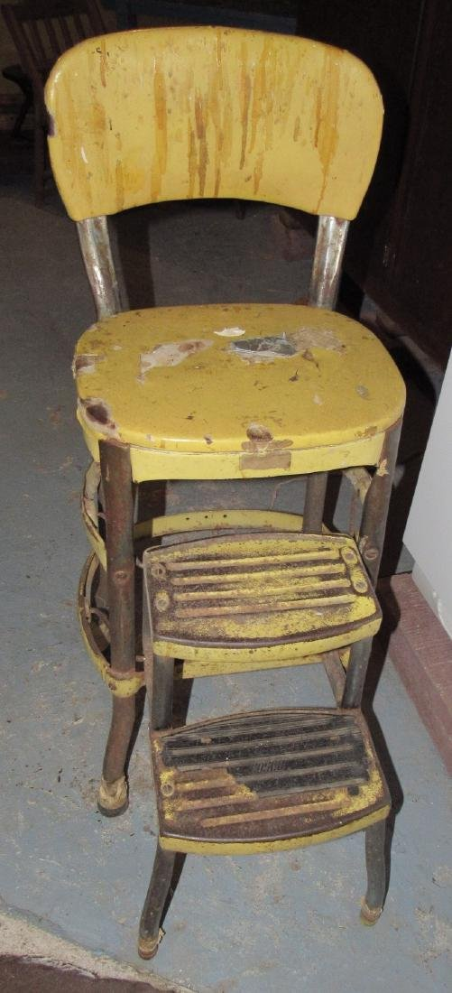 Vintage Step Stool Chair - 2