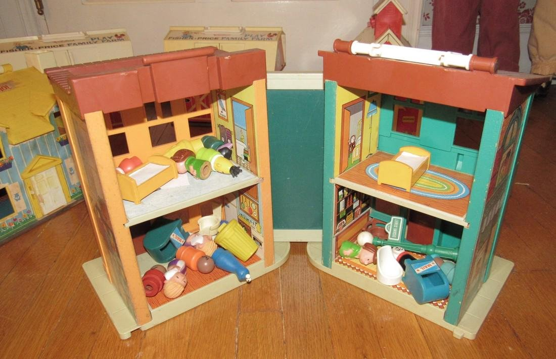 Fisher Price Family Play Farms School House & - 5