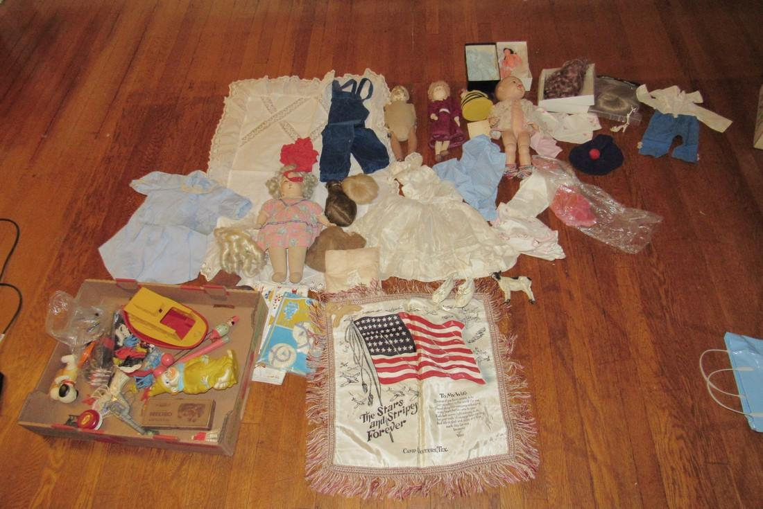Dolls Clothes Toys Stars Stripes Pillow Case