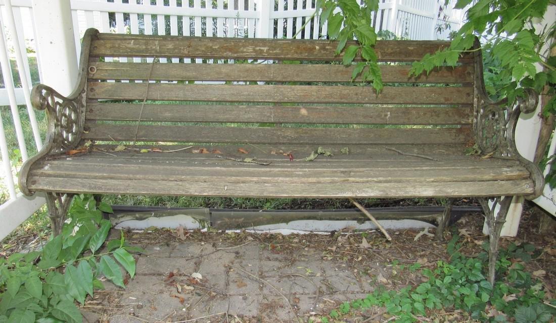Garden Bench w/ Cast Iron Sides