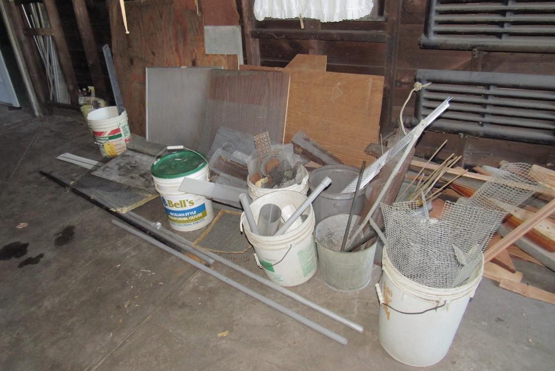 Contents of Garage Scrap Iron Wood Misc