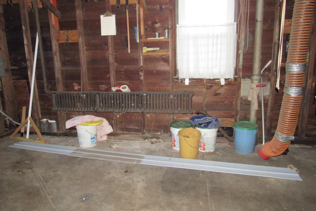 Contents of Garage Scrap Iron Wood Misc - 2