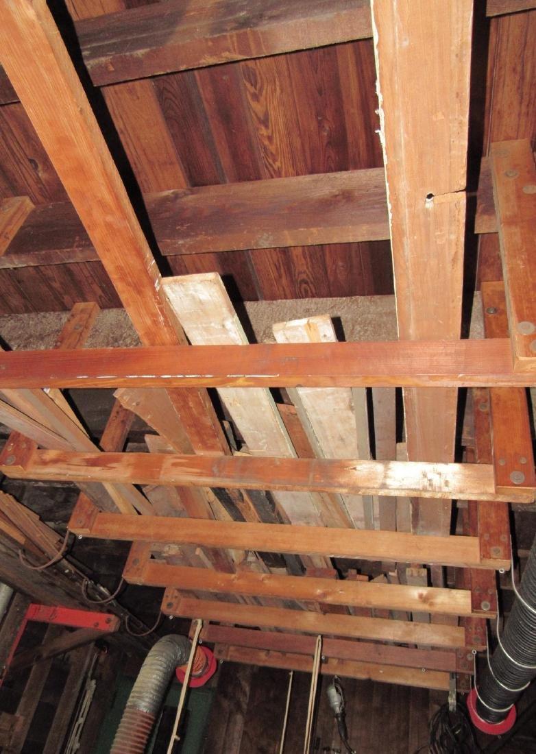 Contents of Garage Scrap Iron Wood Misc - 3