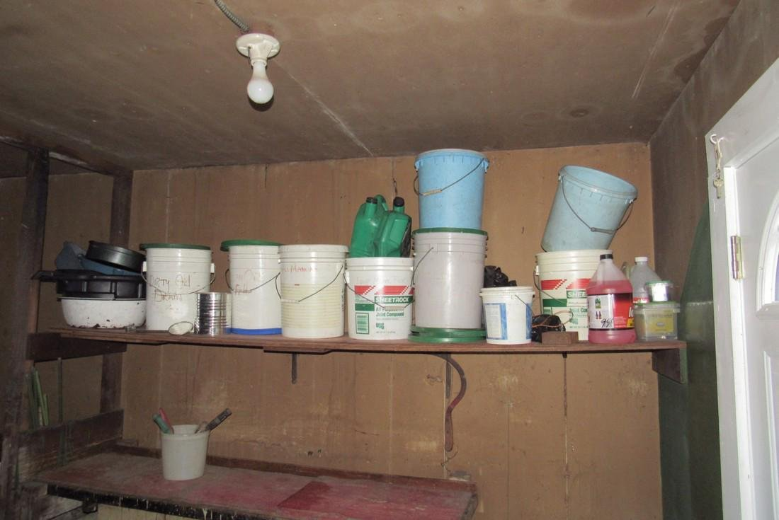 Contents of Garage Scrap Iron Wood Misc - 6
