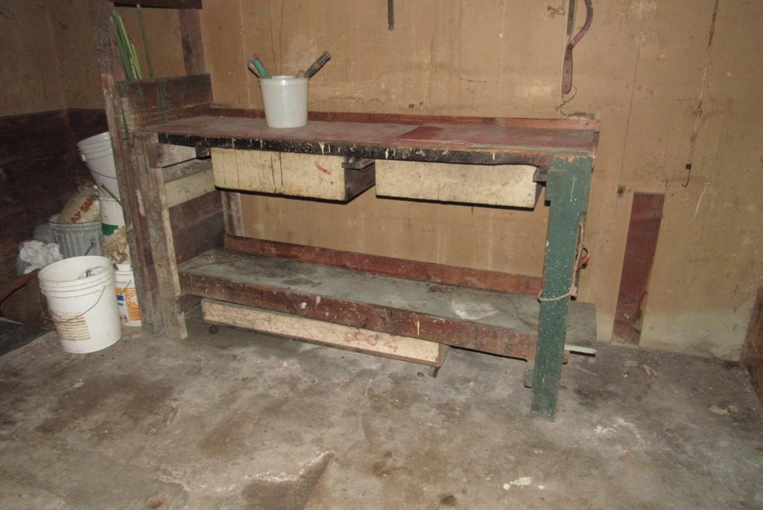 Contents of Garage Scrap Iron Wood Misc - 7