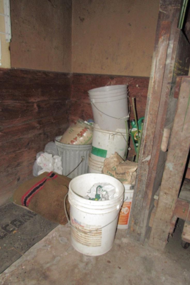 Contents of Garage Scrap Iron Wood Misc - 8