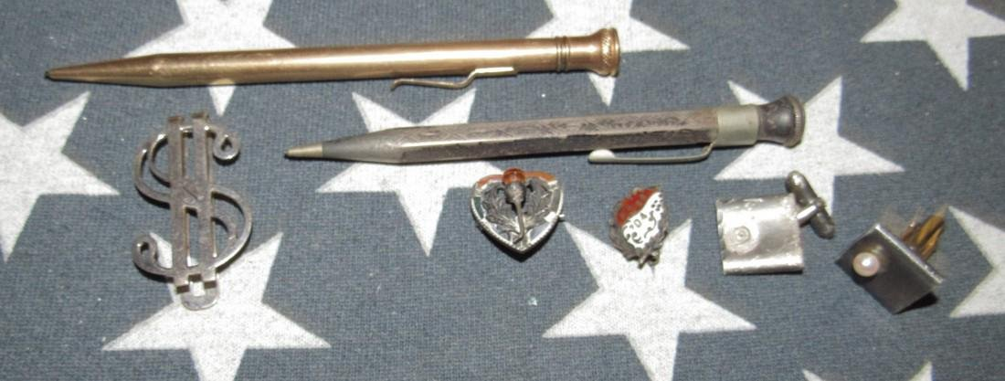 Misc Sterling Silver Pins & Gold Filled Lead Pencil