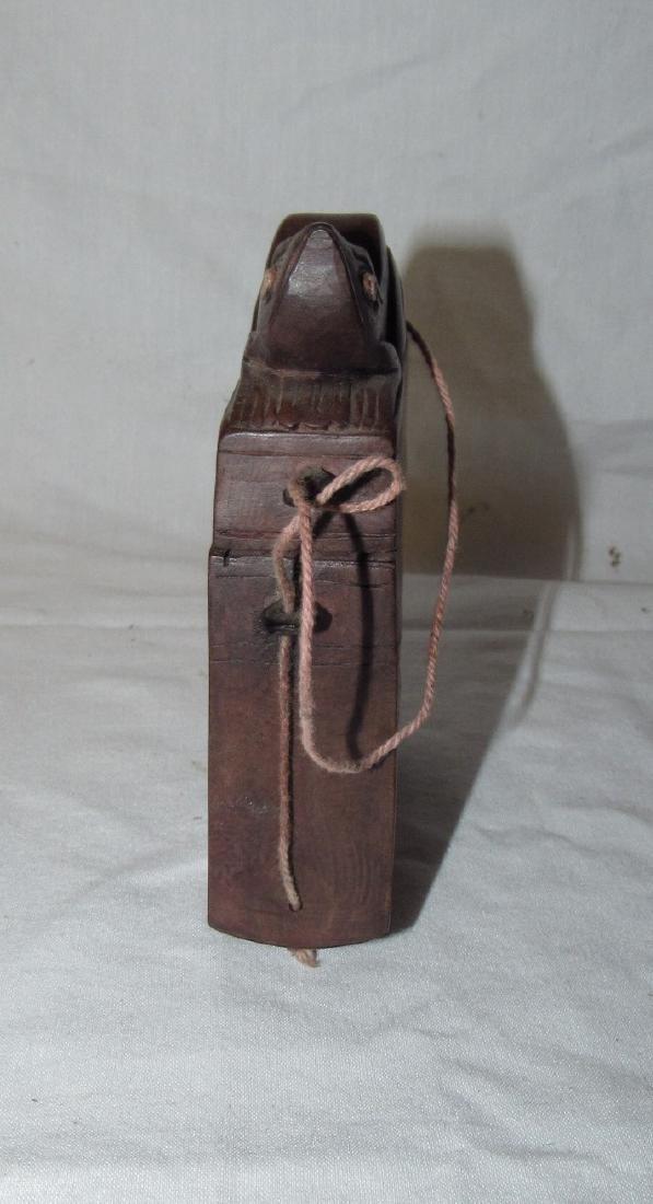 Carved Wooden Frog Cigarette Holder Box - 2