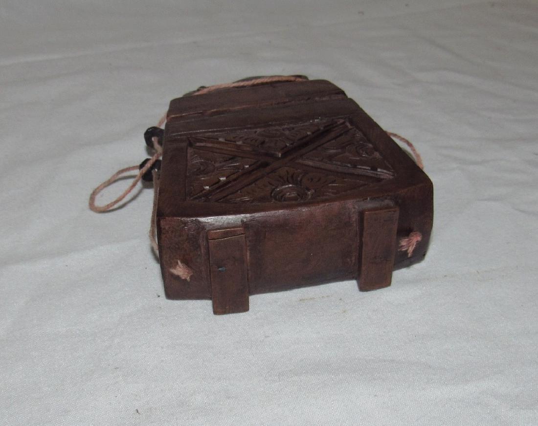 Carved Wooden Frog Cigarette Holder Box - 6