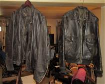 2 Vintage Leather Motorcycle Jackets