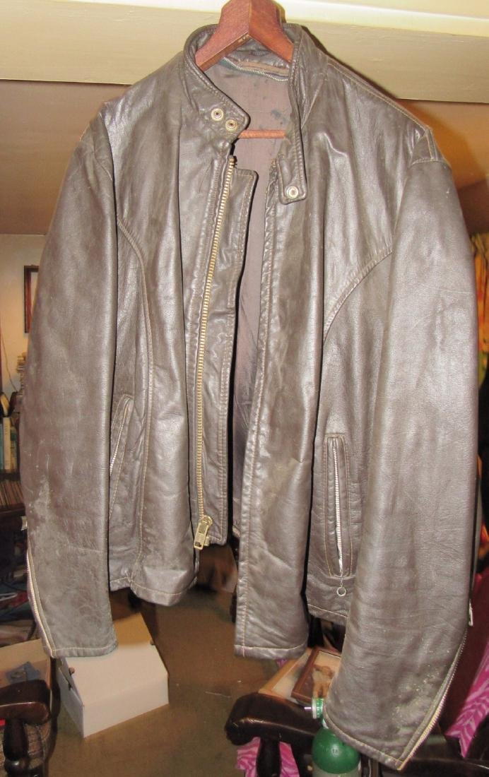 2 Vintage Leather Motorcycle Jackets - 2