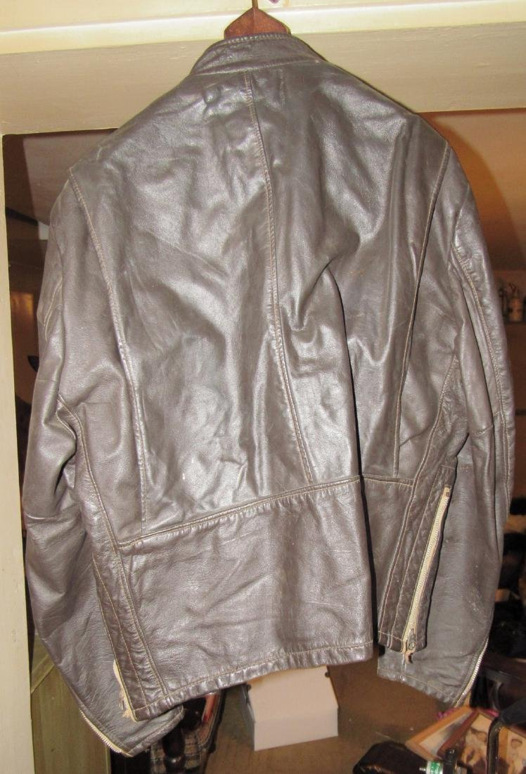 2 Vintage Leather Motorcycle Jackets - 4