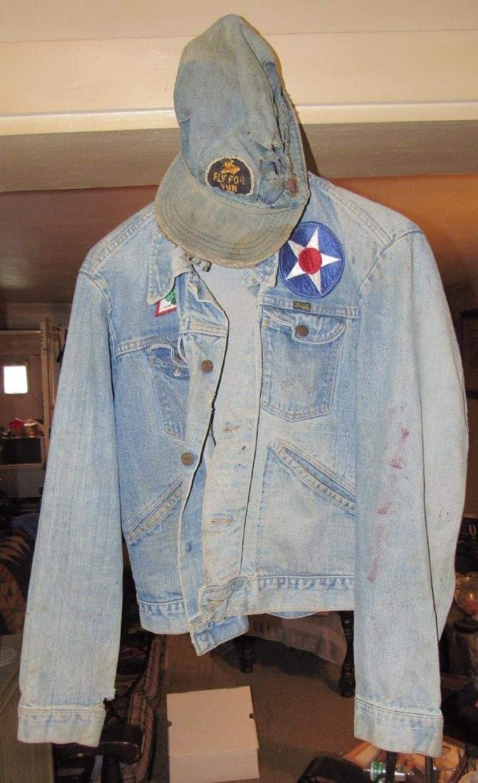 Vintage Wrangler Denim Jacket and Denim Hat
