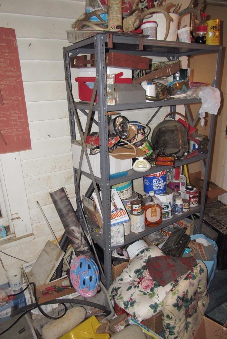 Shelf Contents Tools Paints Misc