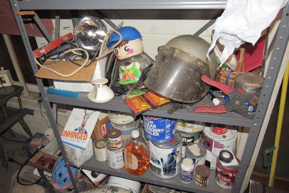 Shelf Contents Tools Paints Misc - 6
