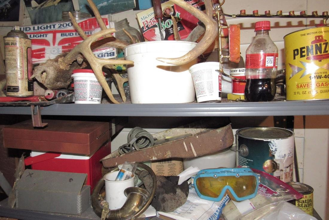 Shelf Contents Tools Paints Misc - 7