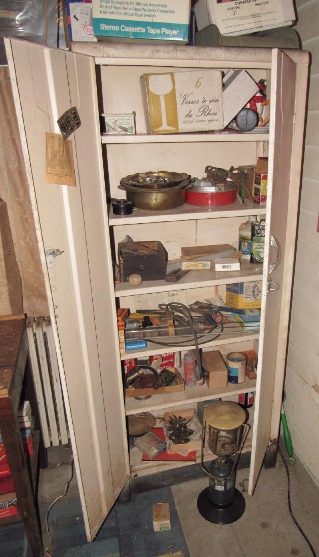 2 Door Metal Cabinet Contents Lantern