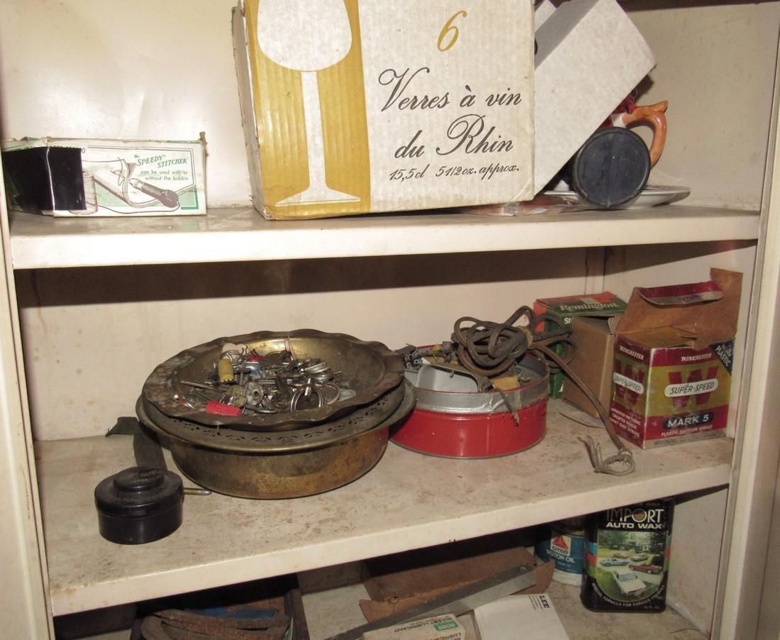 2 Door Metal Cabinet Contents Lantern - 2