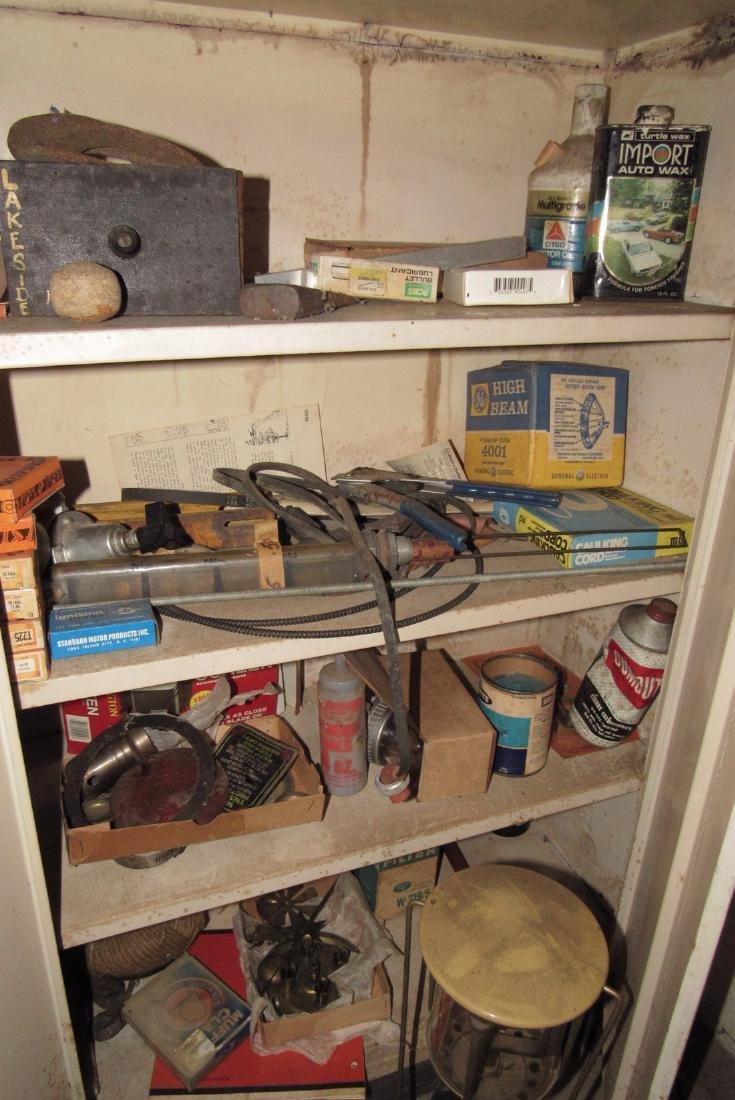 2 Door Metal Cabinet Contents Lantern - 3