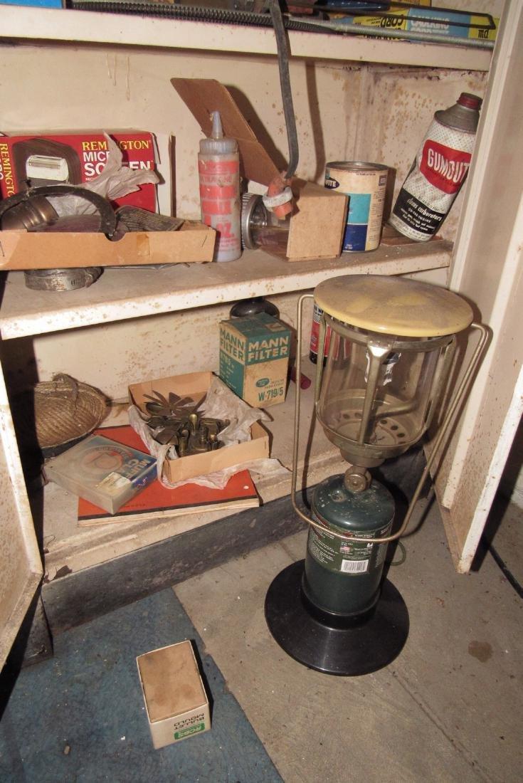 2 Door Metal Cabinet Contents Lantern - 4