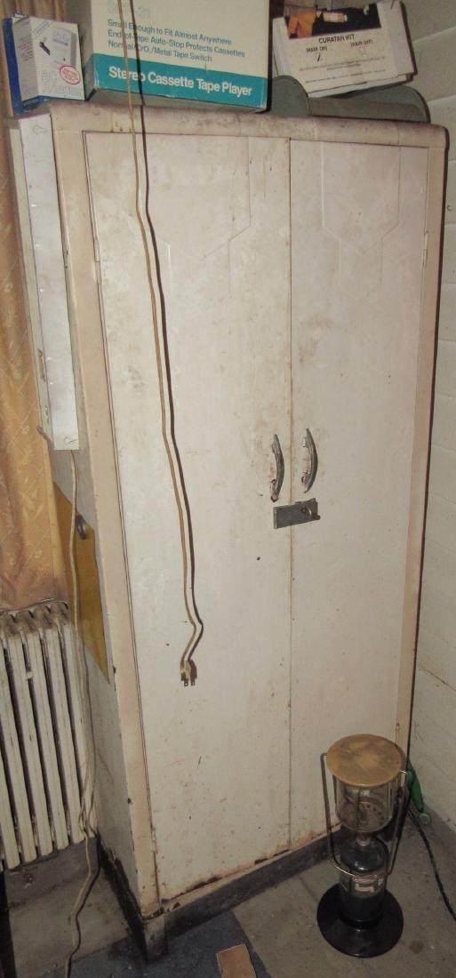 2 Door Metal Cabinet Contents Lantern - 5