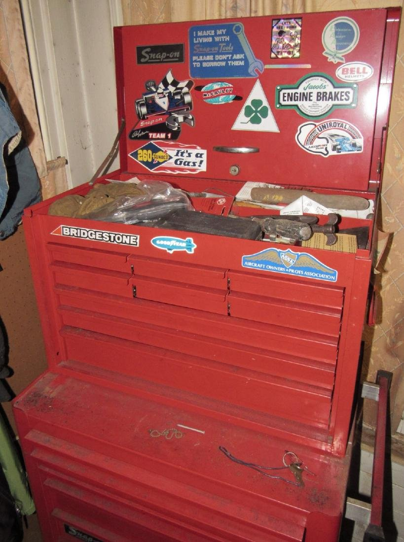 2 Piece Snap On Tool Box and Contents - 3
