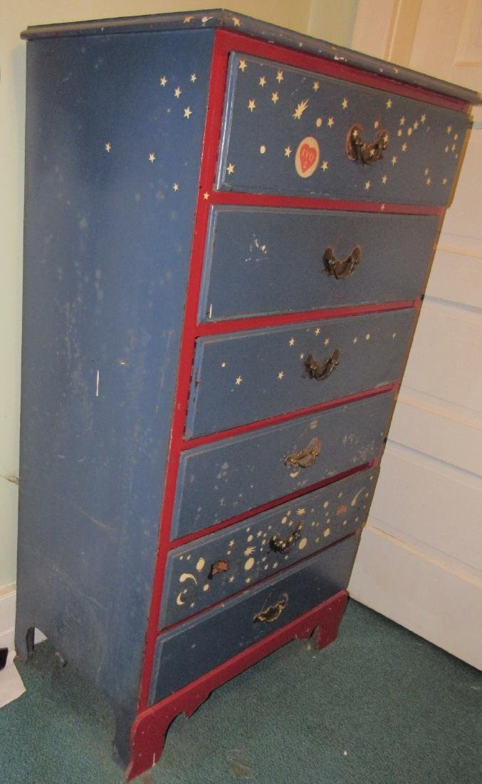 Red & Blue Chest of Drawers Dresser - 2