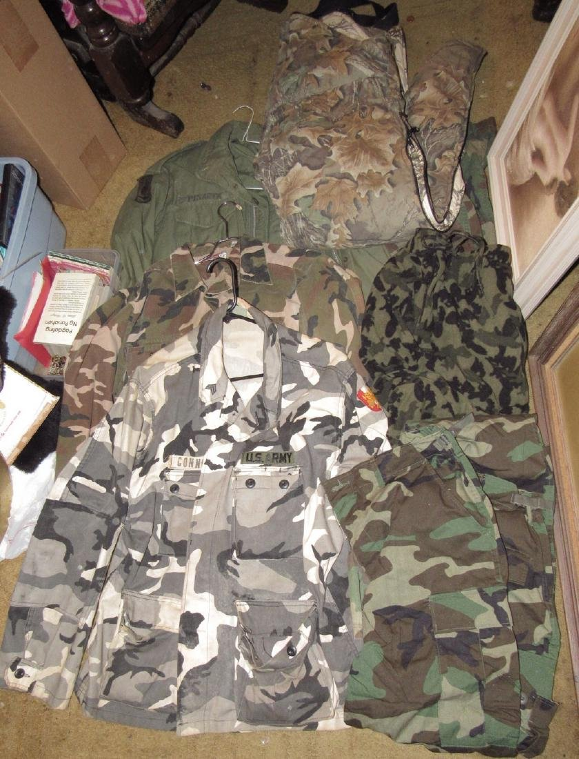 Large Lot of Army Camo Hunting Clothes