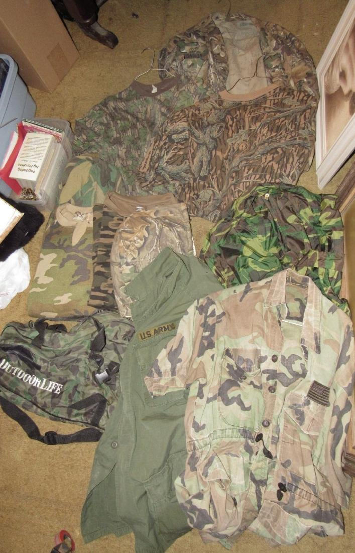 Large Lot of Army Camo Hunting Clothes - 2