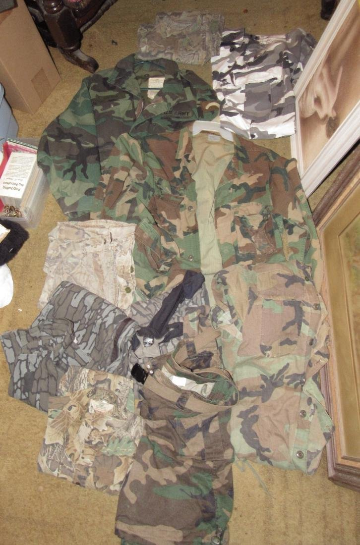 Large Lot of Army Camo Hunting Clothes - 3