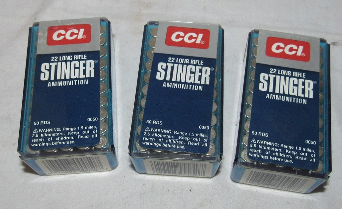 3 Boxes of CCI 22 Long Rifle Ammo