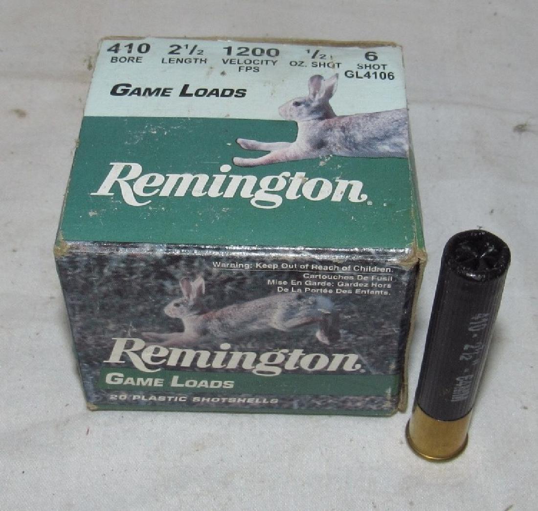 """Box of Remington 410 2 1/2"""" 6 Shot Shotgun Shells"""
