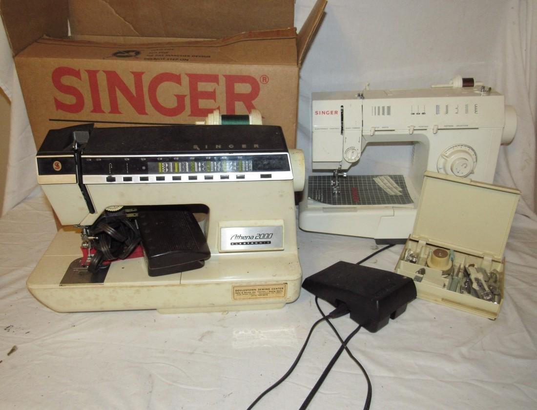 Singer Athena 2000 & 5825C Sewing Machines