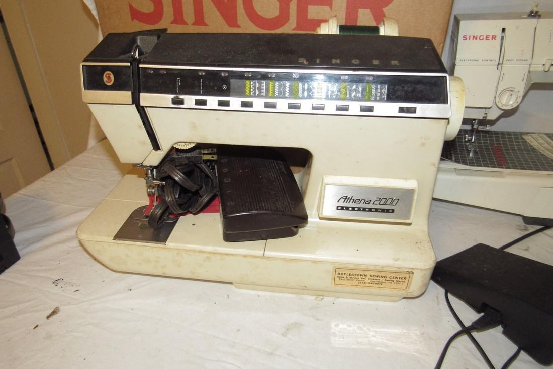 Singer Athena 2000 & 5825C Sewing Machines - 2