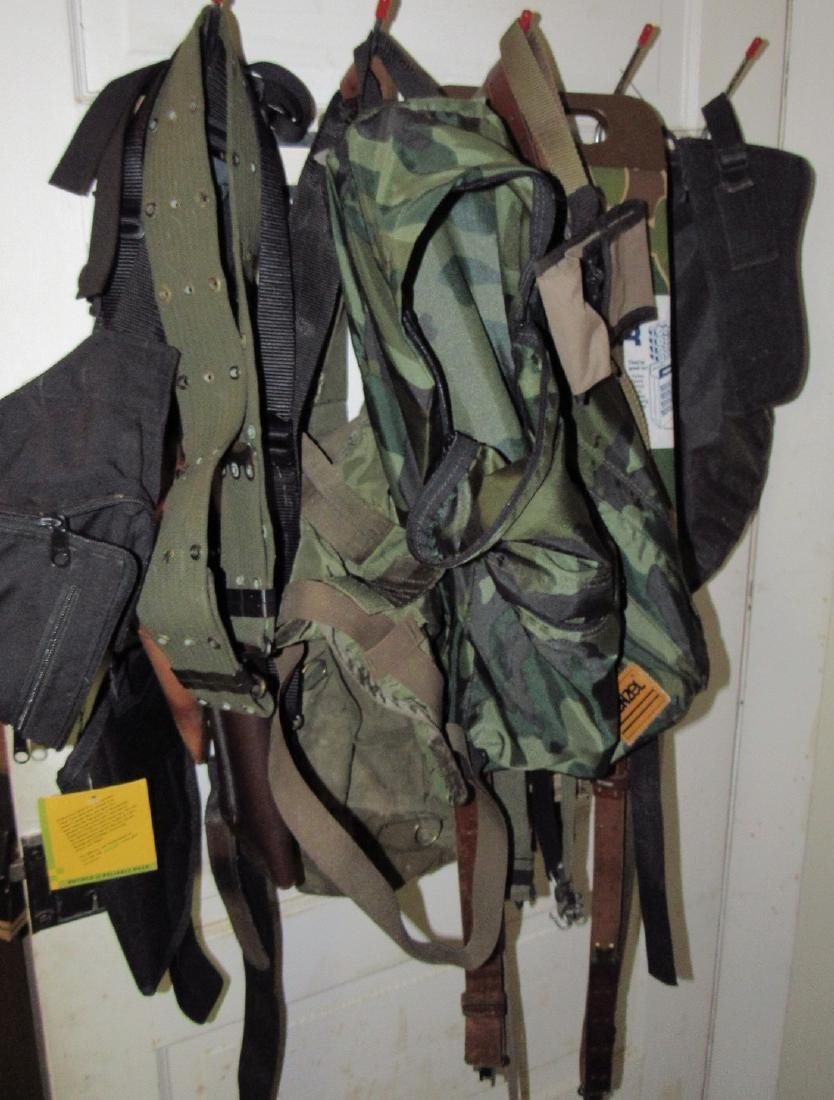 US Leather Pistol Holster Pouches Back Packs