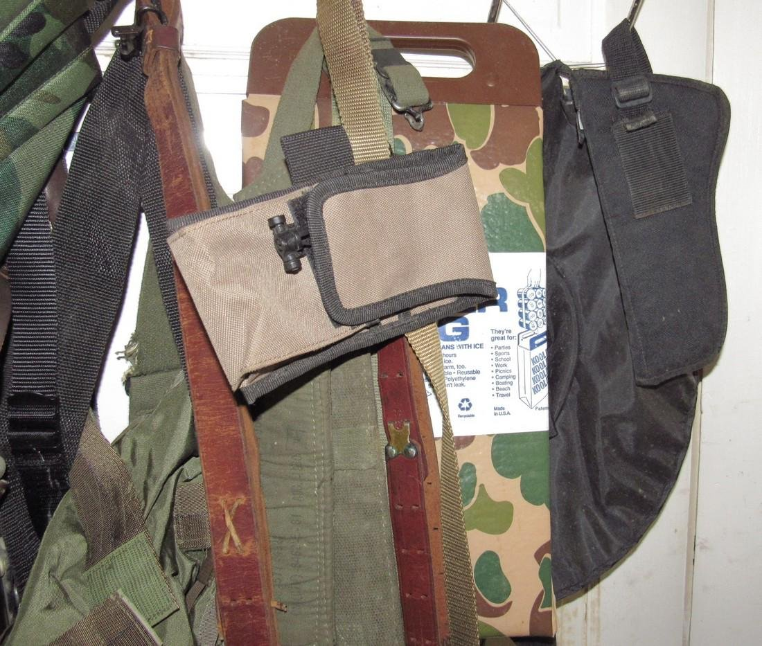 US Leather Pistol Holster Pouches Back Packs - 5