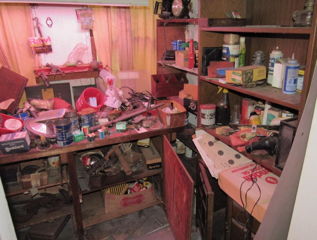 Partial Back Room Contents Snap On Box Tools Copper