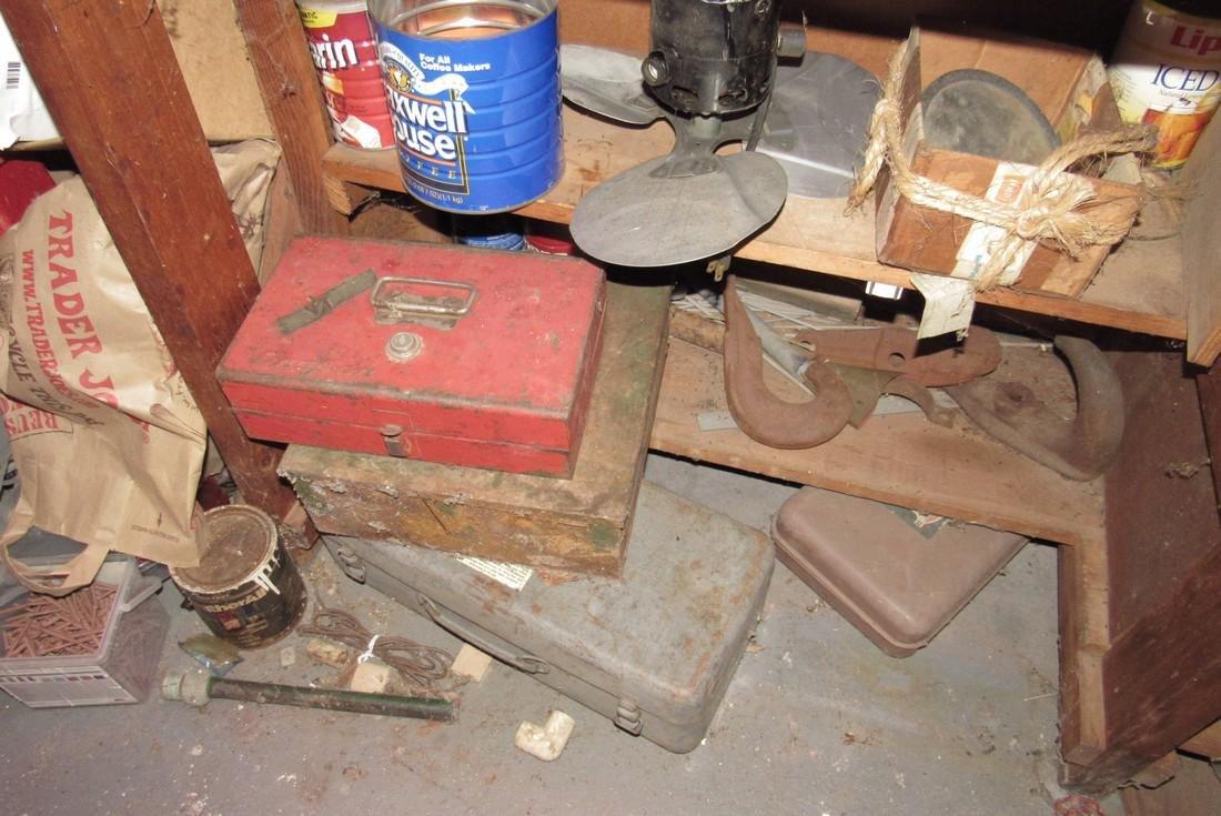 Partial Back Room Contents Snap On Box Tools Copper - 4