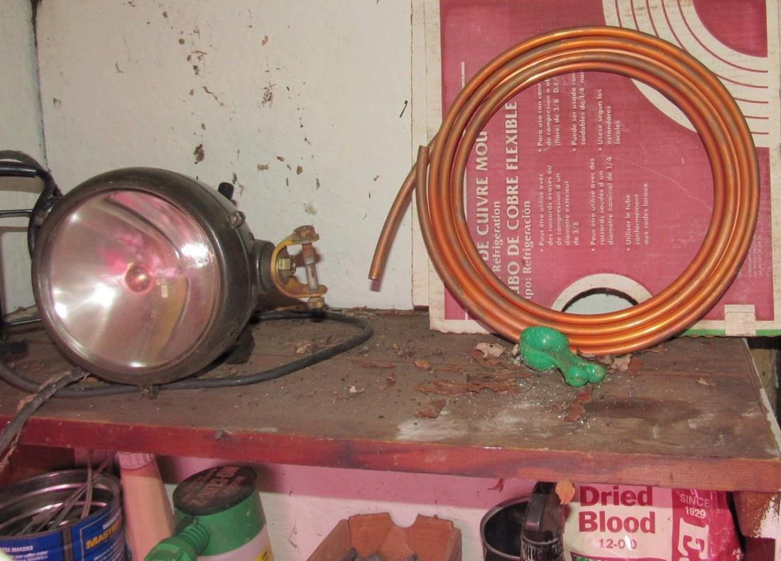 Partial Back Room Contents Snap On Box Tools Copper - 8
