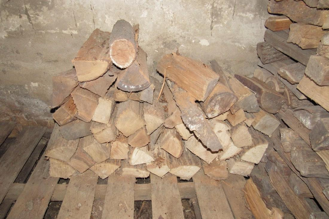 Stacks of Cut & Split Firewood w/ Pipe Clamp - 2