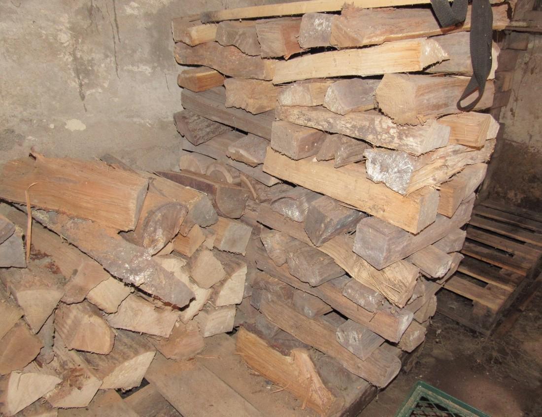 Stacks of Cut & Split Firewood w/ Pipe Clamp - 3