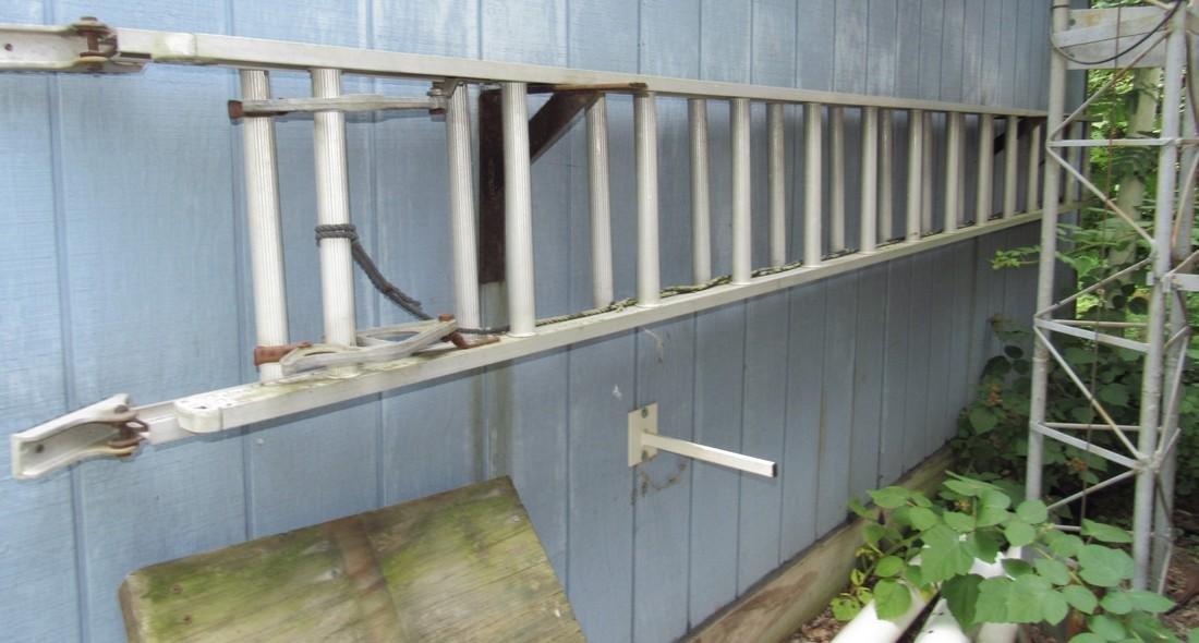 28' Aluminum Extension Ladder & PVC Pipe - 2