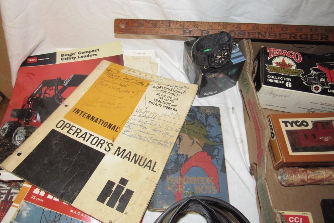 Flashlights Baseball Glove UZI watch Railroad Magazines - 2