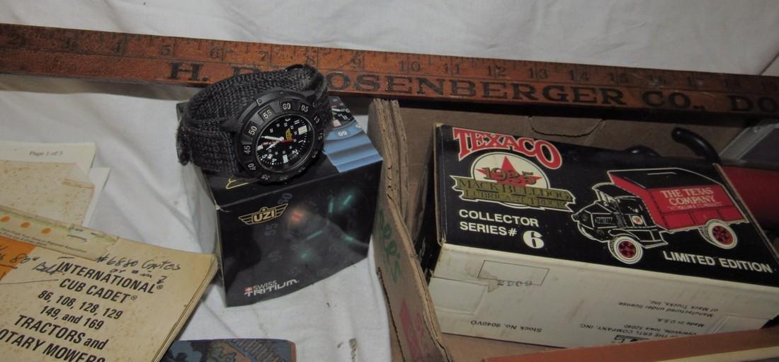 Flashlights Baseball Glove UZI watch Railroad Magazines - 3