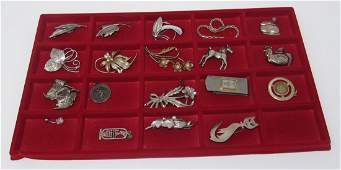 Sterling Silver Pins Brooches Charms Money Clip Jewelry