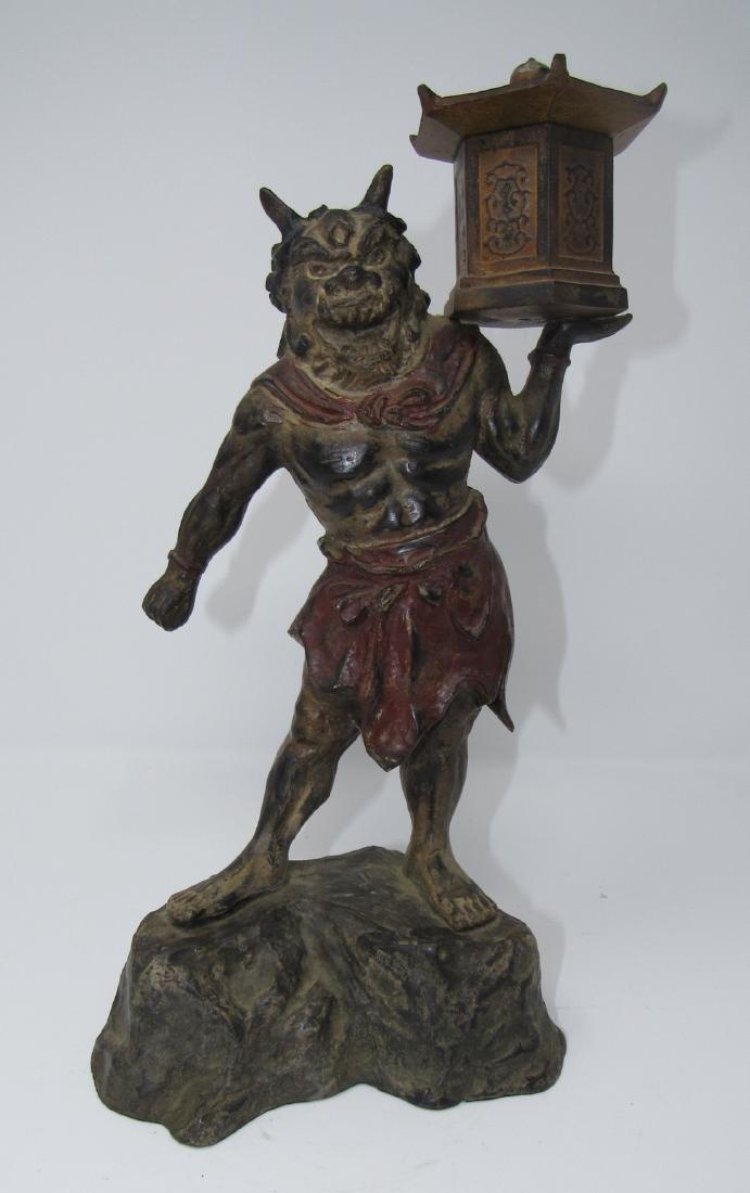 Bronze Asian Oriental Warrior Statue