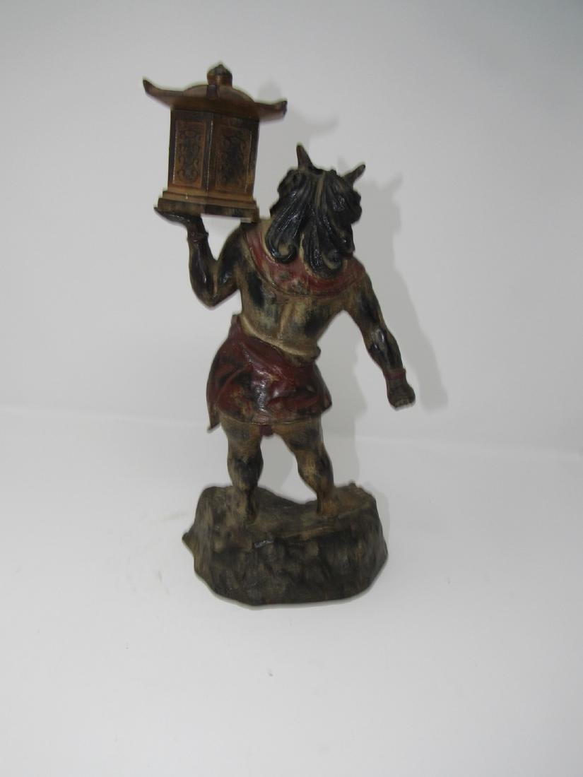 Bronze Asian Oriental Warrior Statue - 2