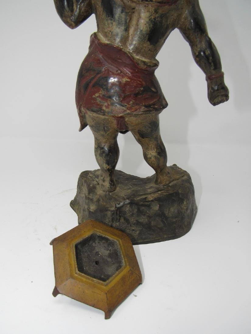 Bronze Asian Oriental Warrior Statue - 4